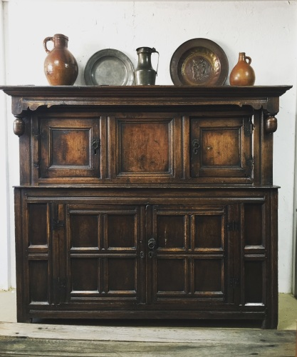 A Fine 17th Century Oak Court Cupboard With A Pedigree Provenance.