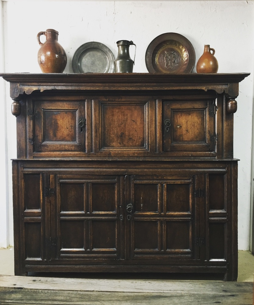 A Fine 17th Century Oak Court Cupboard With A Pedigree Provenance. SOLD