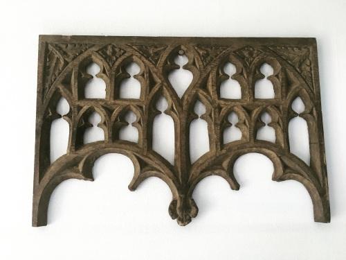 An English Gothic Tracery Head Circa 1480-1500