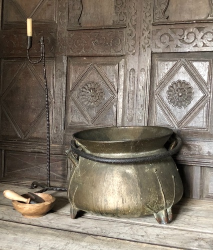 A 17th Century West Country Bronze Cauldron Of Large Proportions