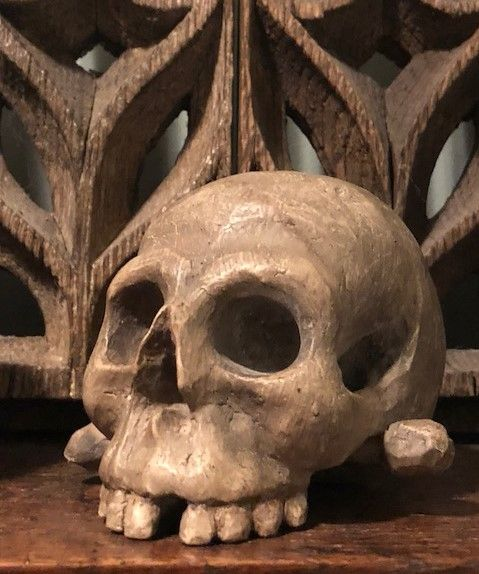 18th Century carved Memento Mori skull SOLD