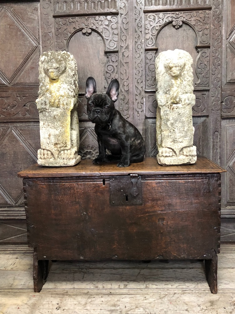 A Jacobean Oak Boarded Chest Of Small Proportions Circa 1620 ON HOLD