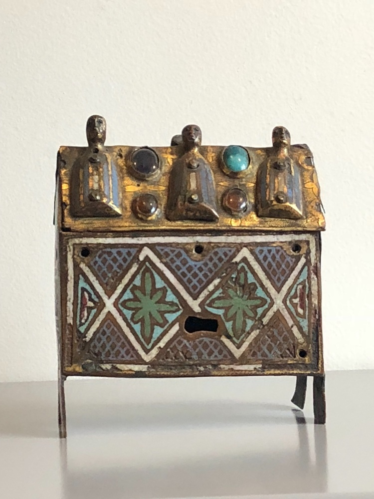 An Extremely Rare 13th Century French Limoge Enamelled Reliquary-Casket.