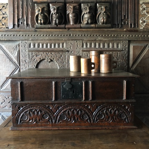 A Rare 17th Century Carved Oak Desk Box.