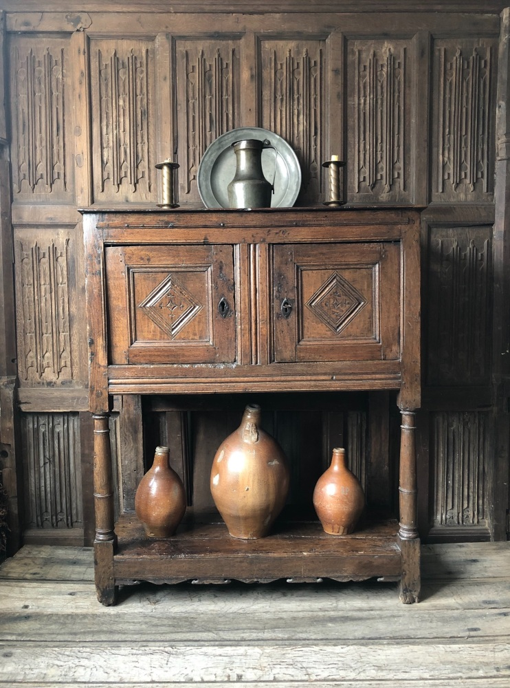 A Wonderful Early 17th Century Oak Livery Cupboard.SOLD