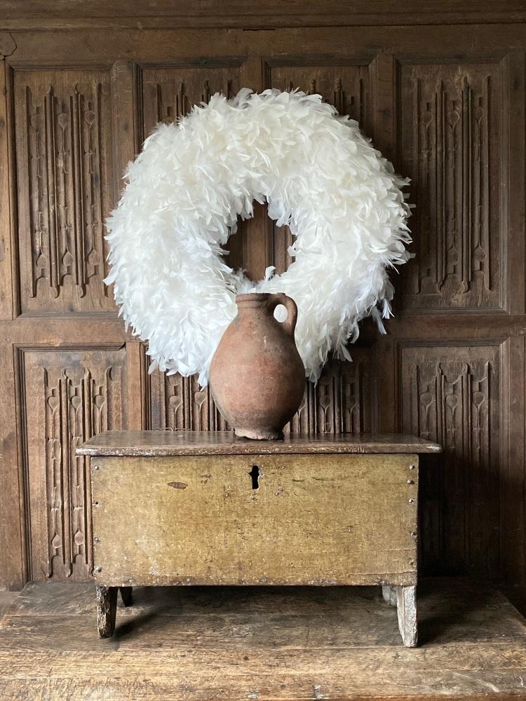 A Rare Late Elizabethan Child's Oak Board Chest Still Retaining Its Origina