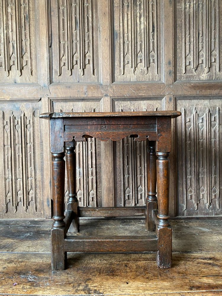 A Charles I Joined Oak Stool SOLD