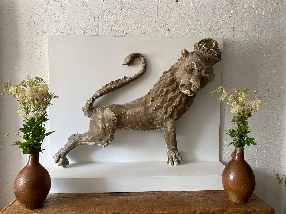 A Decorative 18th century  Heraldic Lion Of Grand Proportions SOLD
