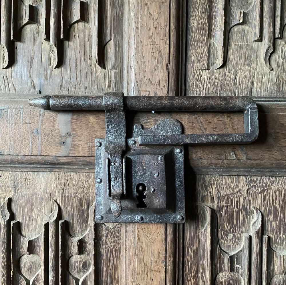Late 16th Century Iron Lock and Hasp .