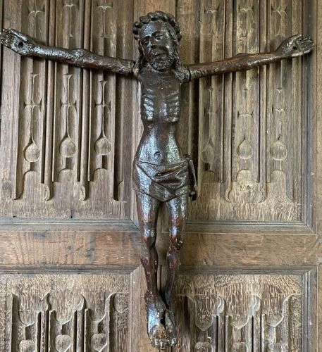 A Late 15th Century Carved Oak Corpus Christi