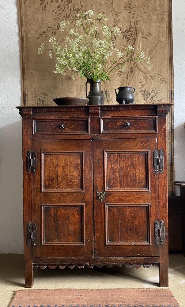 A Fine 17th Century English Oak Pantry Cupboard