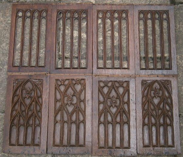 Setof eight gothic panels