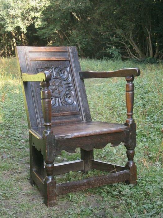 elizabethan wainscot chair oak
