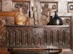 17th century Jacobean Carved Oak Bible Box With Outstanding Colour