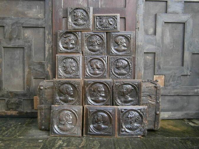 set of 14 16th century romayne panels