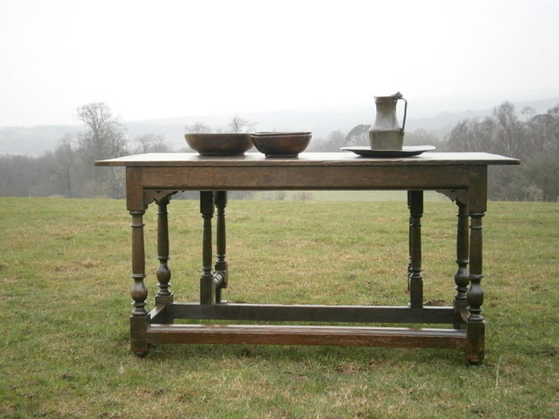 18th century country drop flap table