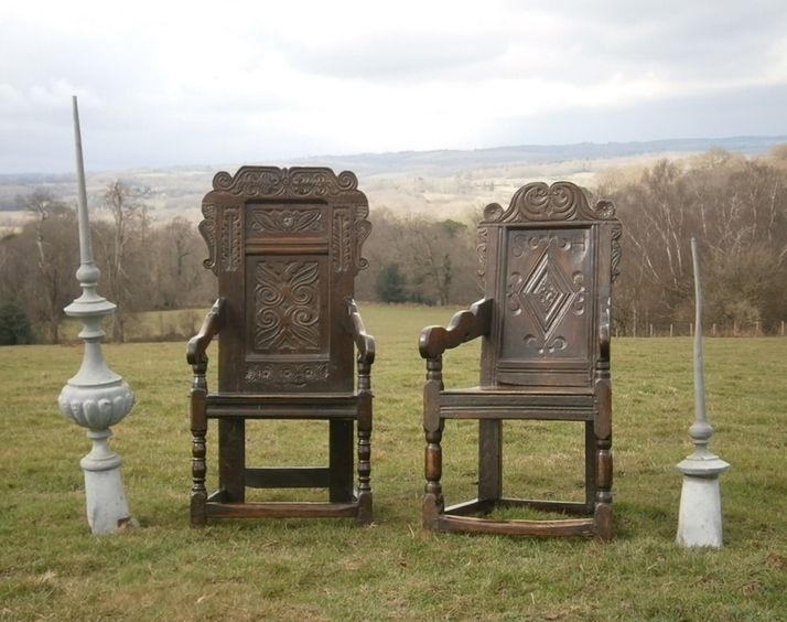 17th century oak wainscot chairs