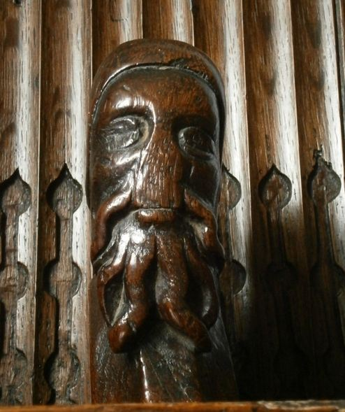 15th century choir stall end 3