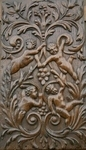 17th Century Flemish Carved Oak Panel Depicting Four Cherubs In Foliate Border SOLD