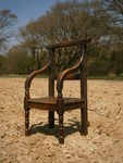 18th Century Welsh Oak Squires Chair Of Large Proportions