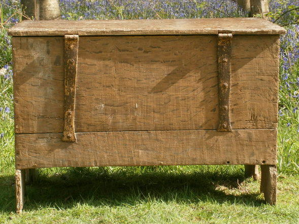15th century english oak board chest 5