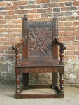 Early 17th Century Joined Oak Wainscot Chair ,West country