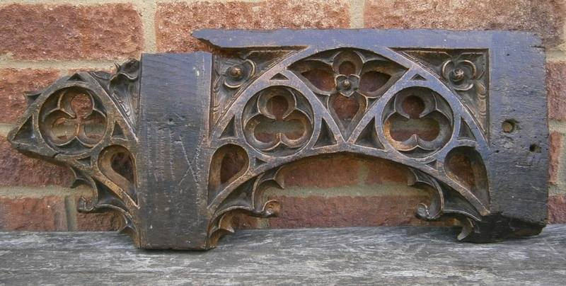 15th century english medieval tracery fragment