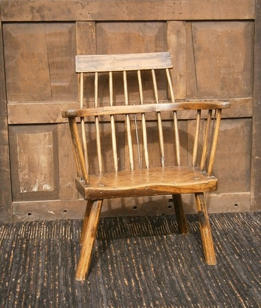 18th century primitive west country chair