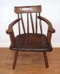 18th Century Irish Sycamore And Elm Gibson Stick Back Chair.