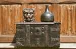 16th century english oak and iron bound strong box