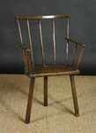18th century ash and elm three legged primitive stick chair.