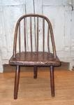 18th century childs ash and elm stick back chair of primitive construction