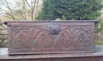 18th century carved oak bible box