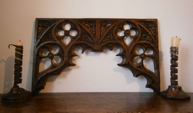 Gothic rood screen panel