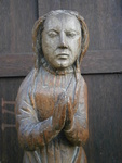 16th Century Carved Oak Figure Of Mary Magdalene with trace of polychrome