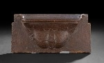 16th century carved oak Misericord depicting a purse