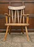 18th century Irish Gibson sycamore primitive chair.