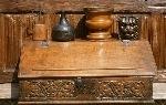 17th Century Carved oak Bible Box.
