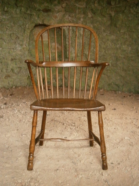 19th century ash and elm country chair