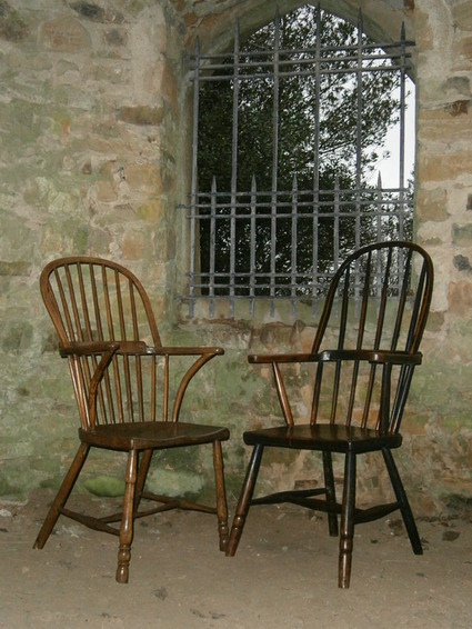 19th century ash and elm country chair 4