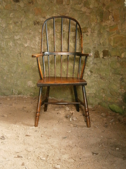 18th century green west country chair