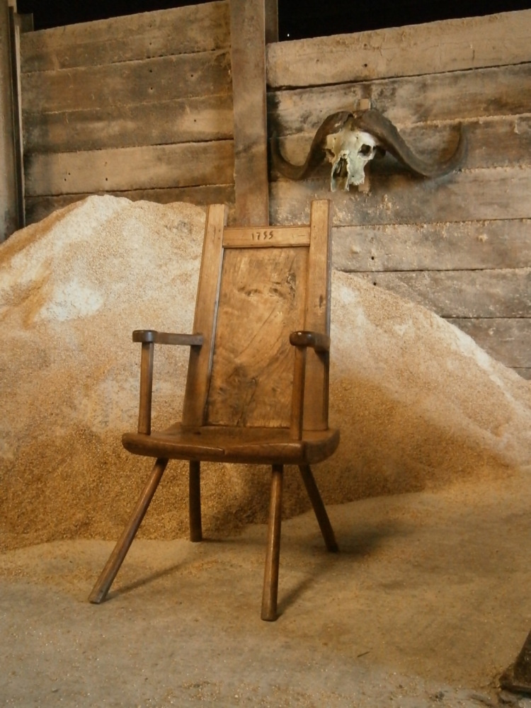 An 18th Century Primitive Chair Of Large Proportions From The Isle Of Lewis