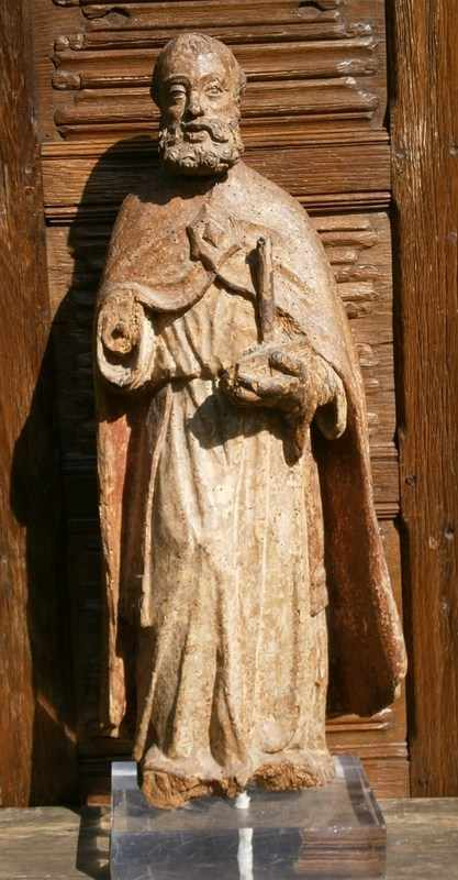 16th Century Carved Figure Of St Anthony