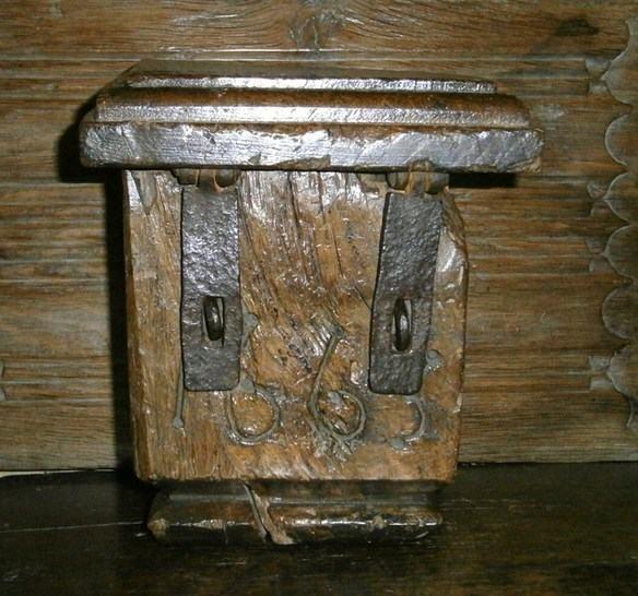 16th century English oak dug out  offeratory box
