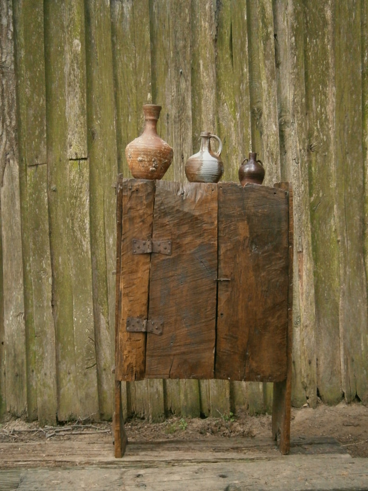 18th Century Black Poplar Primitive Food Hutch SOLD
