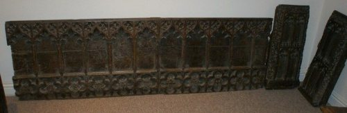 A Very Rare 15th Century Medieval Bench Front Mid Devon