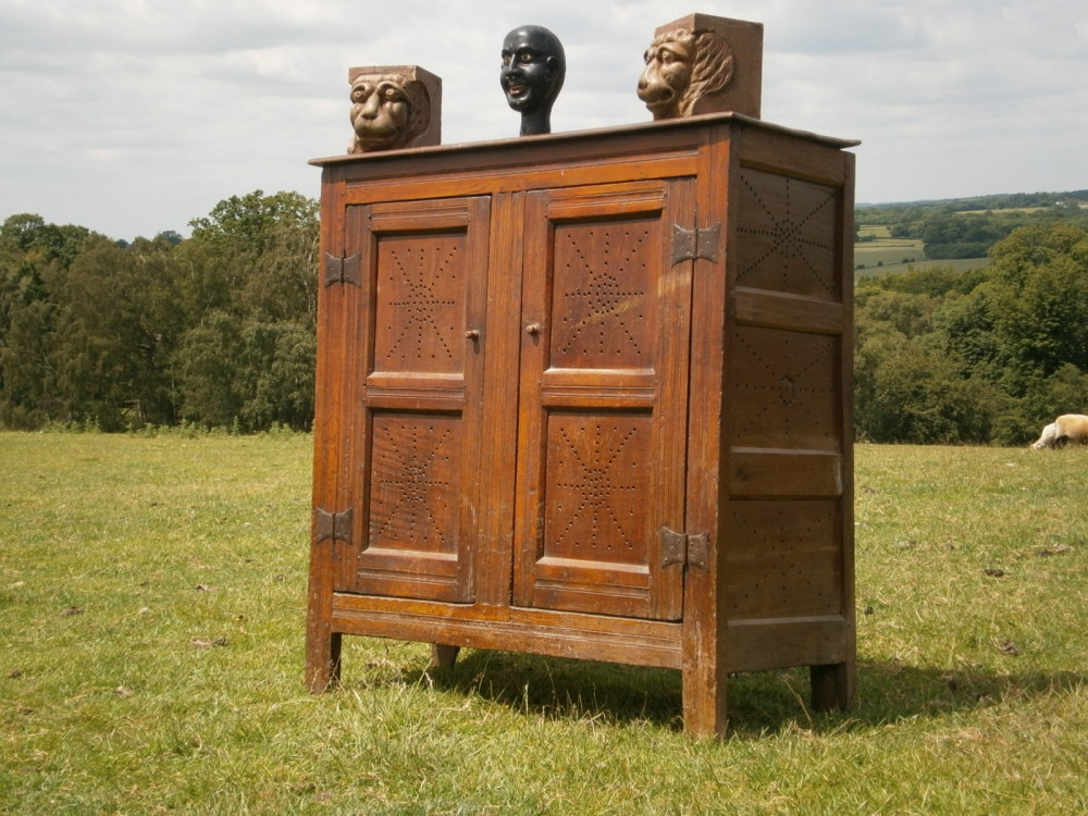 17th Century Joined Oak Food Cupboard