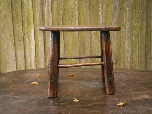 An 18th Century Primitive Ash Stool