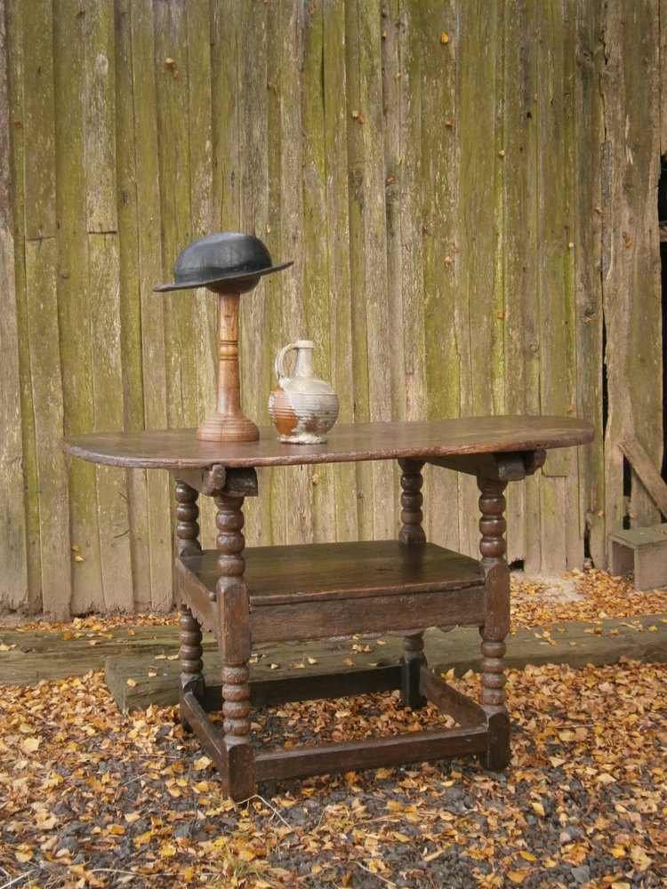 A 17th Century Oak Monks Chair
