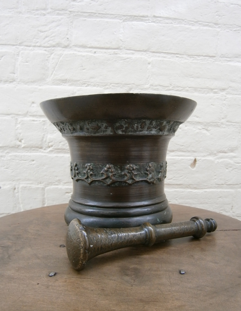 A 17th Century Bronze Mortar Of Good Size Whitechapel London
